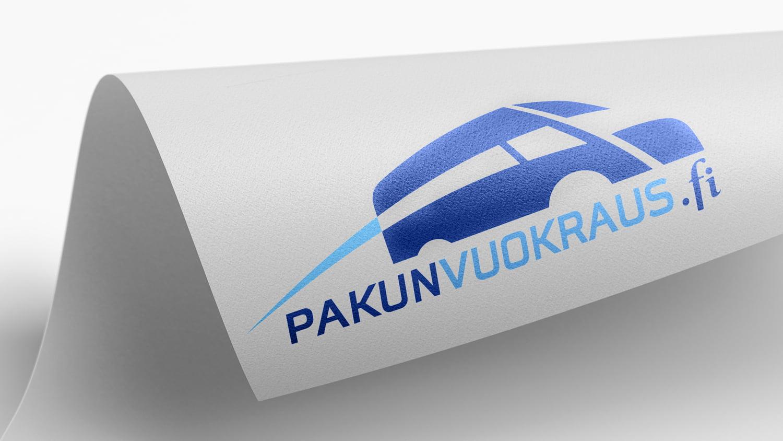 Kuva rullalla olevasta paperista, jossa on Pakunvuokraus.fi:n logo