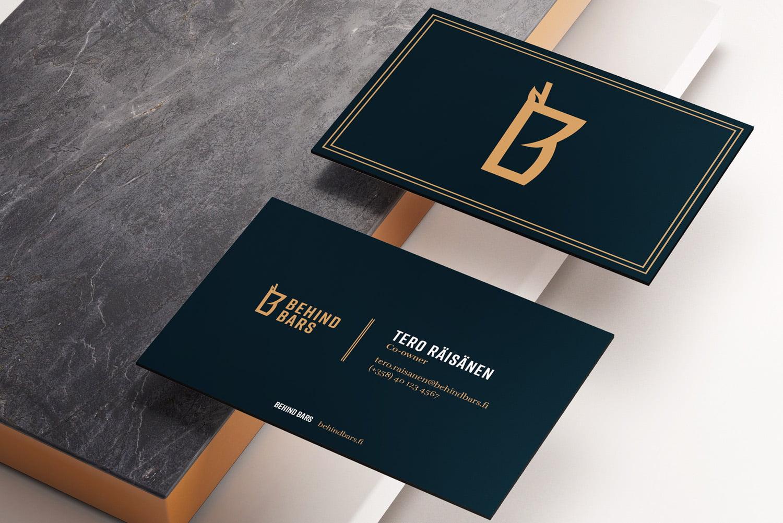 Behind Bars -yrityksen käyntikortit